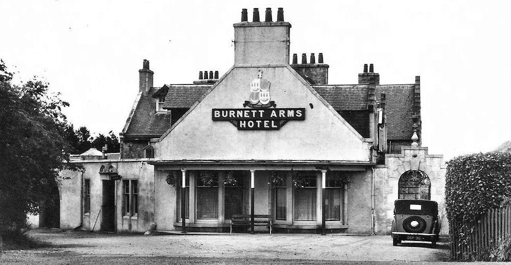 Tour Scotland: Old Photograph Burnett Arms Hotel Kemnay Scotland