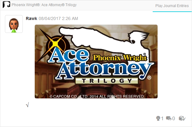 Phoenix Wright Ace Attorney Trilogy complete title screen 3DS