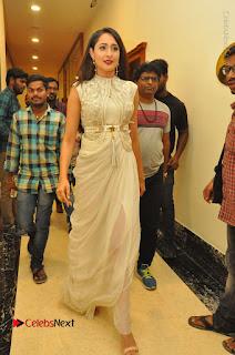 Actress Pragya Jaiswal Stills in Beautiful White Dress at turodu Audio Launch  0077.JPG
