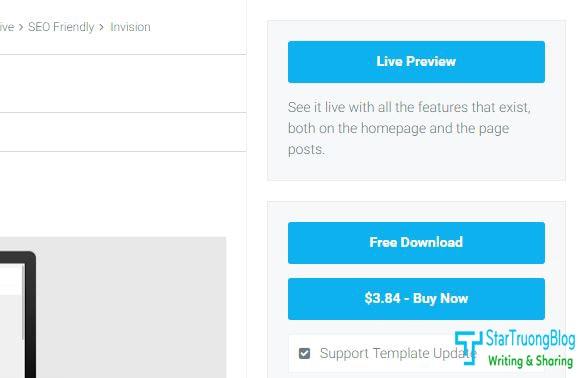 Thêm widgets Button Live Preview và Giá sản phẩm ở Sidebar