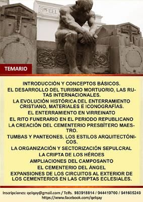 CURSO LIMA SÉPULCRAL MAUSOLEOS CRIPTAS Y TUMBAS - QELQAY