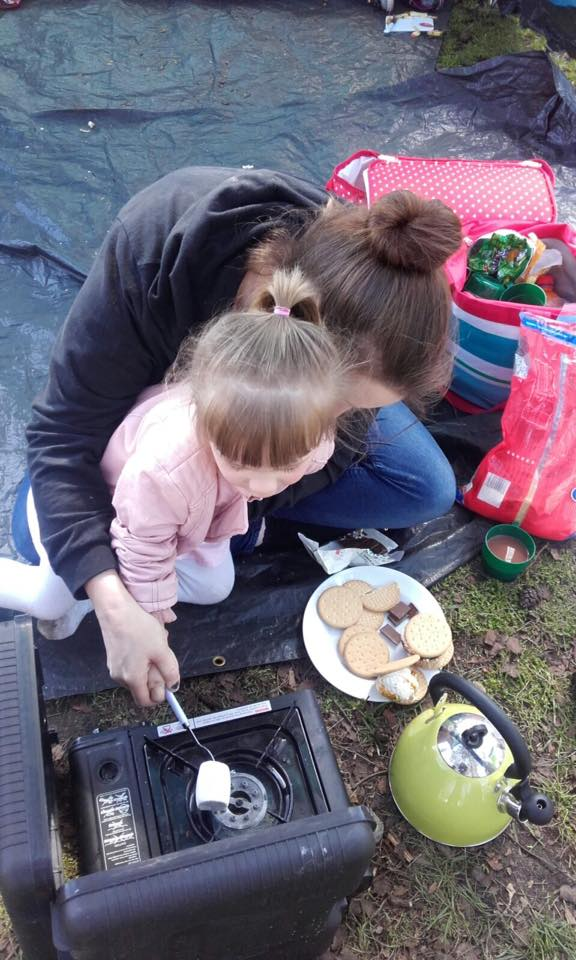 Toasting Marshmallows at Haven's Wild Duck Park