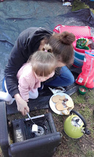 Toasting Marshmallows at Haven's Wild Duck Park
