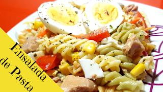 receta ensalada de pasta con atúny huevo-como hacer ensalada de pasta