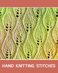 Learn Candle Flame Lace Pattern with our easy to follow instructions at HandKnittingStitches.com