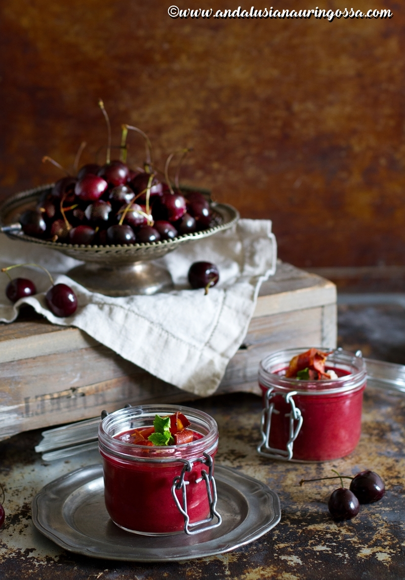 cherry gazpacho_tapas_vegetarian_gluten-free_kosher_Under the Andalusian Sun_food blog_4