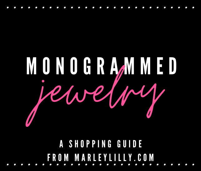 From bracelets, to necklaces, to earrings, to rings, Marleylilly's jewelry makes the perfect gifts for yourself or a friend! Check out all of our Monogrammed Jewelry and Personalized Gifts today!