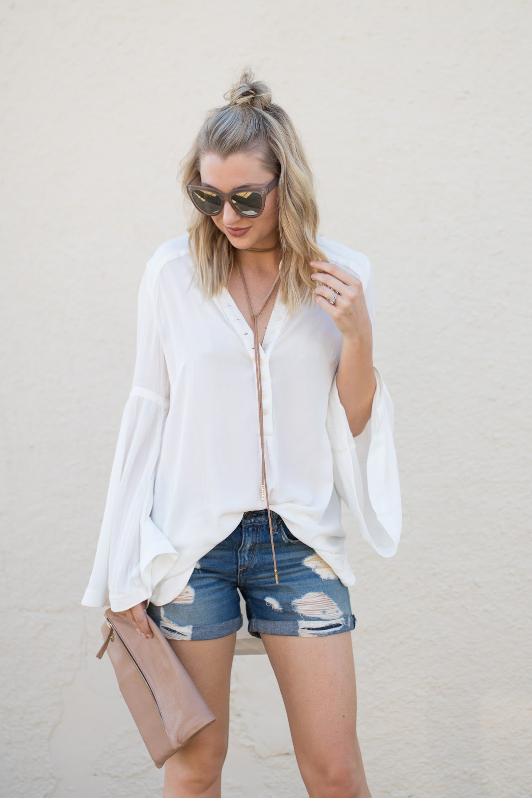 white Free People tunic