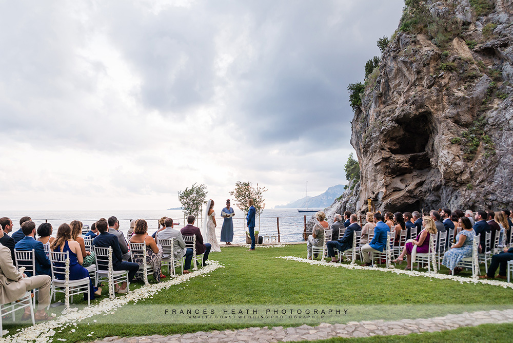 Beach wedding ceremony at hotel San Pietro