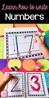 Help students learn how to write and form their numbers 1-20 correctly.