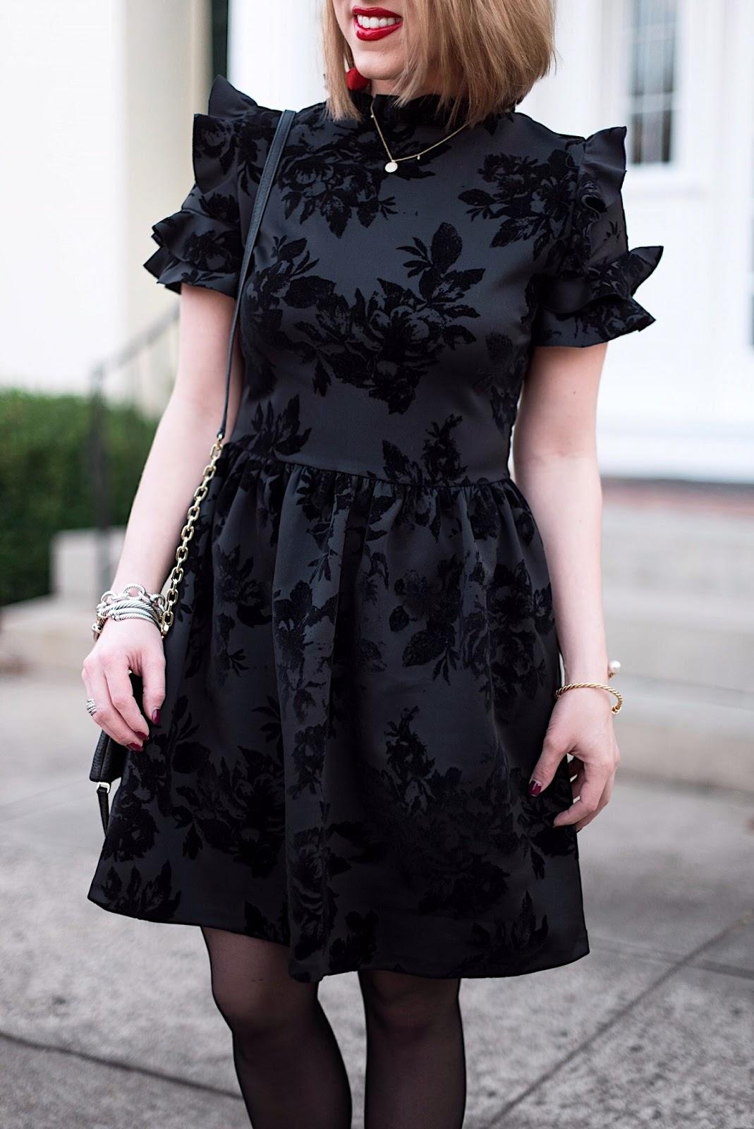 Black Velvet Dress - Something Delightful Blog