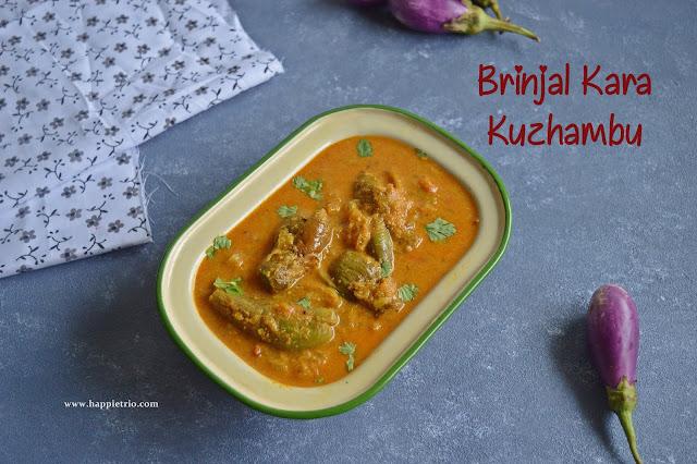 Kathirikai Kara Kuzhambu Recipe | Brinjal Gravy Recipe