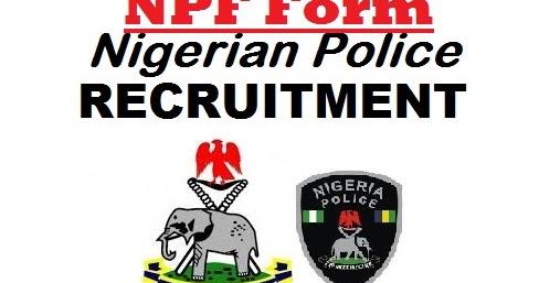 Nigerian Police Recruitment Form Pdf