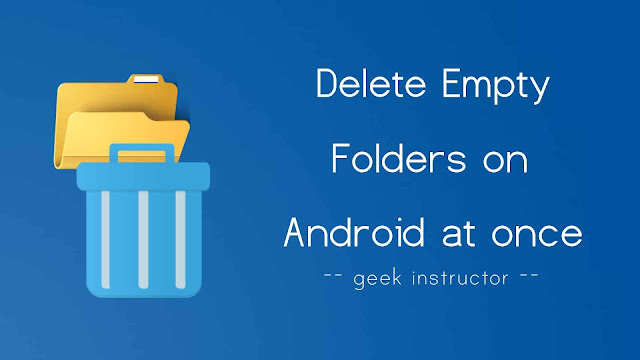 Delete empty folders on WhatsApp at once