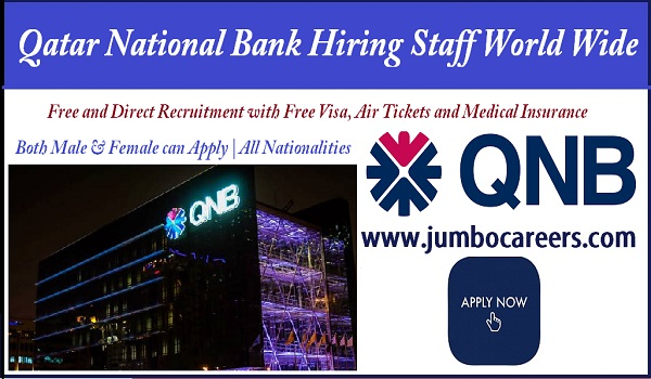 Current job in Qatar national bank, Find all new vacancies with salary and benefits,