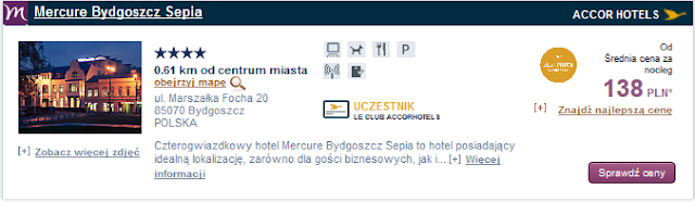 bydgoszcz hotel promocja accorhotels