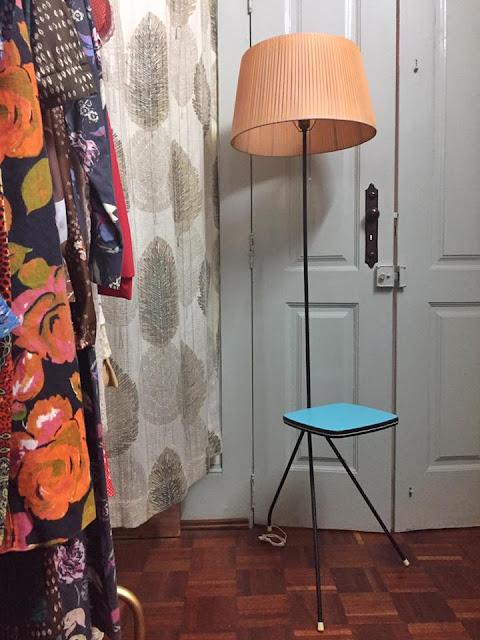 candeeiro, vintage, candeeiro de pé, anos 50, a Porta Verde