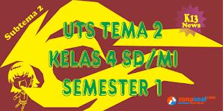 Soal Latihan UTS Kelas 4 Subtema 2 Semester 1 K13