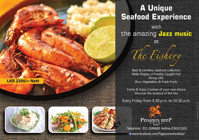 A unique Seafood Experience with the amazing Jazz music at The Fishery.