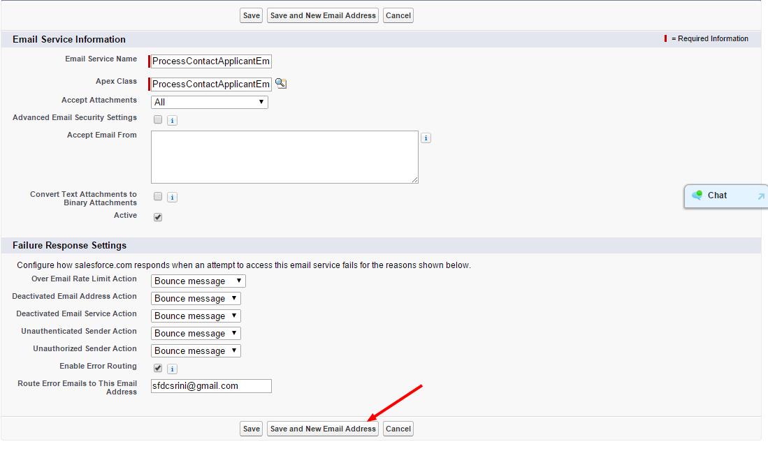 Creating an Inbound Email Service in Salesforce
