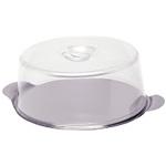 Tava prajituri din inox , cu capac transparent Ø 300x(H)110 mm
