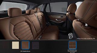 Nội thất Mercedes GLC 300 4MATIC Coupe 2018 màu Nâu Saddle 234