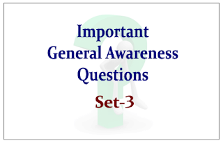 List of Expected General Awareness Questions for Upcoming RBI/SBI Exams 2015 Set-3