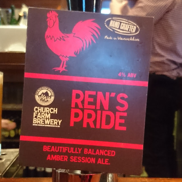 Warwickshire Craft Beer Review: Ren's Pride from Church Farm Brewery real ale pump clip