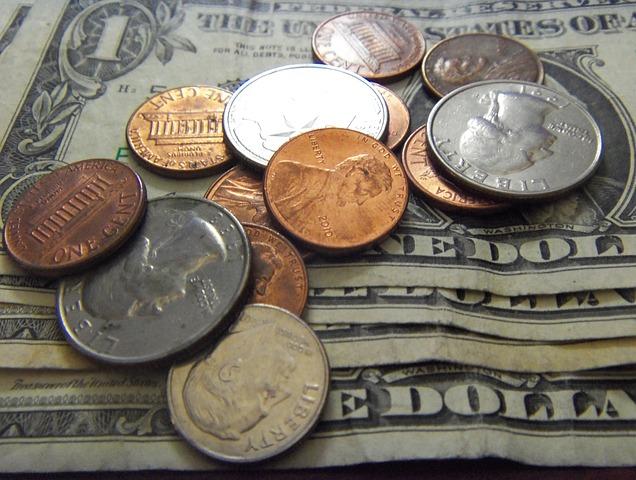 Notas de dólar em Las Vegas