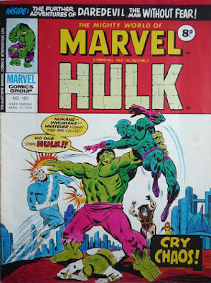 Mighty World of Marvel #185, Hulk vs Inhumans