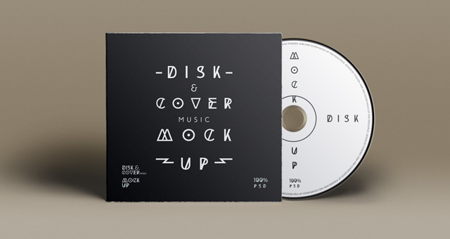 Cd Cover Presentation Brand Music Mockup PSD