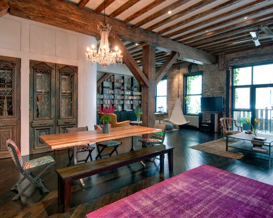 Hogares frescos hermosa renovaci n de loft con dise o for Renovacion de casas viejas