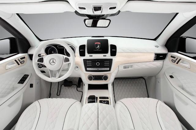 2017 TopCar Mercedes GLE Guard in All-White Interior - #TopCar #Mercedes #GLE #Guard #White #Interior #tuning #suv