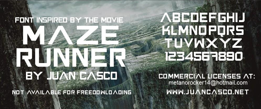 Maze Runner Font Juan Casco Fonts
