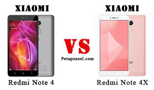 Perbandingan Xiaomi Redmi Note 4 dan 4X