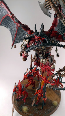Painted Bloodthirster of Unfettered Fury with Bloodletters Base 1