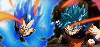 Goku and Vegeta attacking Jiren