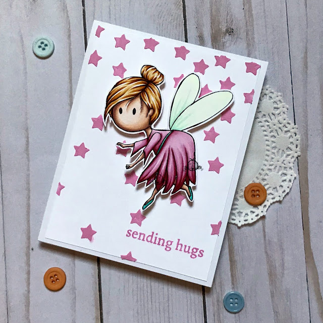 friendship card using a fairy stamp