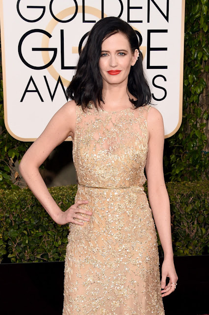 Actress, Model, @ Eva Green - 73rd Annual Golden Globe Awards in Beverly Hills