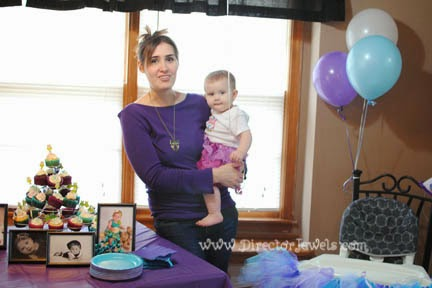 Baby Girl Purple and Teal Turquoise First Birthday Owl Party www.directorjewels.com