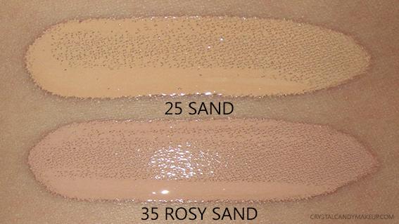 Vichy Teint Ideal Illuminating Fluid Foundation 25 Sand 35 Rosy Swatches