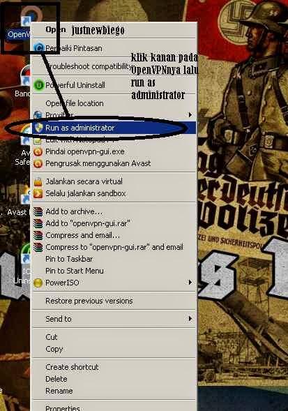 Tutorial cara bermain game online gratis dengan menggunakan OpenVPN