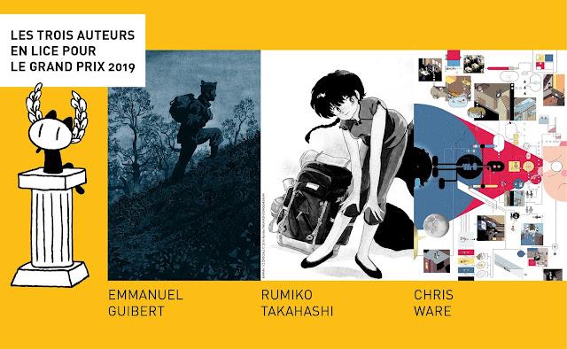 Qui sont les 3 auteurs encore en lice pour le Grand Prix du FIBD 2019