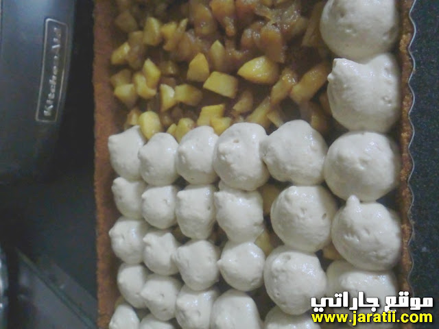 طورطة بالتفاح والتيراميسو بالصور جاراتي