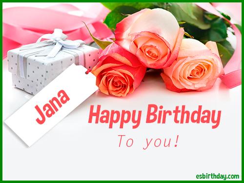 Happy Birthday Jana Happy Birthday Images For Name