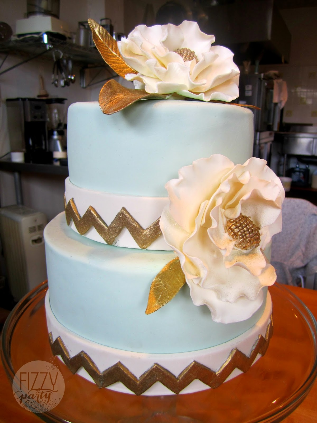 Dream Cakes wedding cake with fondant flowers