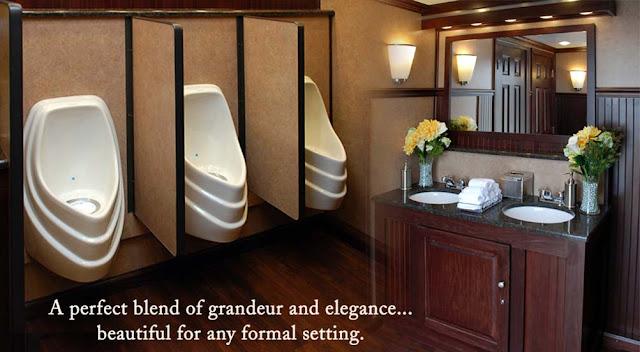 Restroom Trailers for Rent, Urinals on Men's Side
