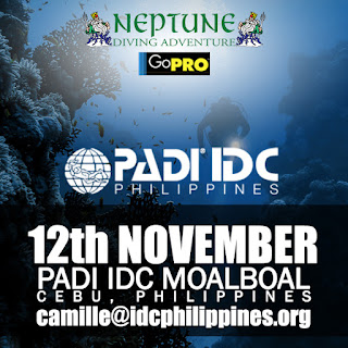 Next PADI IDC in Moalboal, Philippines starts 12th November 2017
