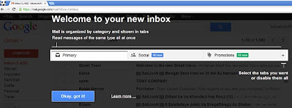 primary social promotions tabs in gmail