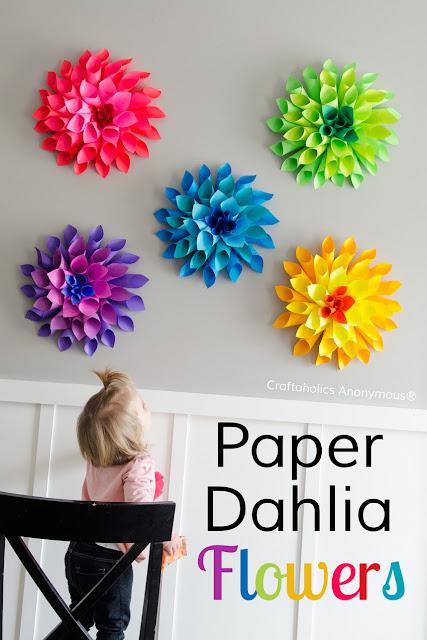 http://www.craftaholicsanonymous.net/rainbow-paper-dahlia-flowers